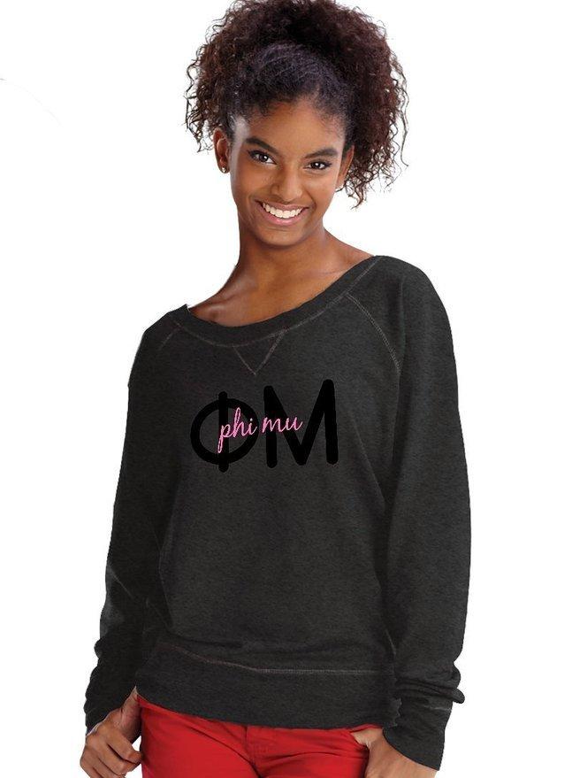 Phi Mu crewneck sweatshirt