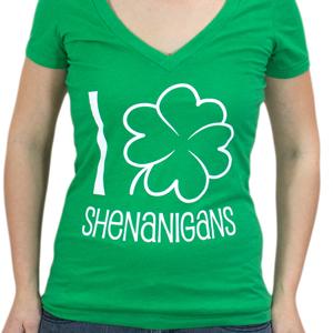 """I """"Shamrock"""" Shenanigans V-neck"""